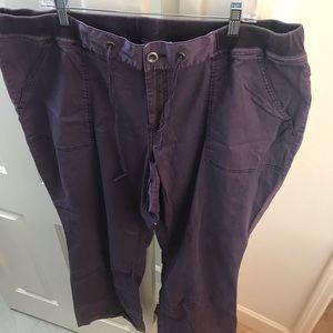 Lane Bryant casual purple pants Sz 22